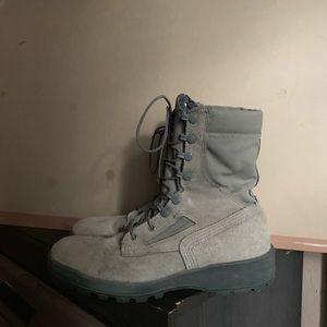 Urban Outfitters Shoes - Army Boots Size 9 Green Black